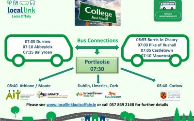 New College Service from Durrow and Borris-in-Ossory to Athlone and Carlow starting 10 September