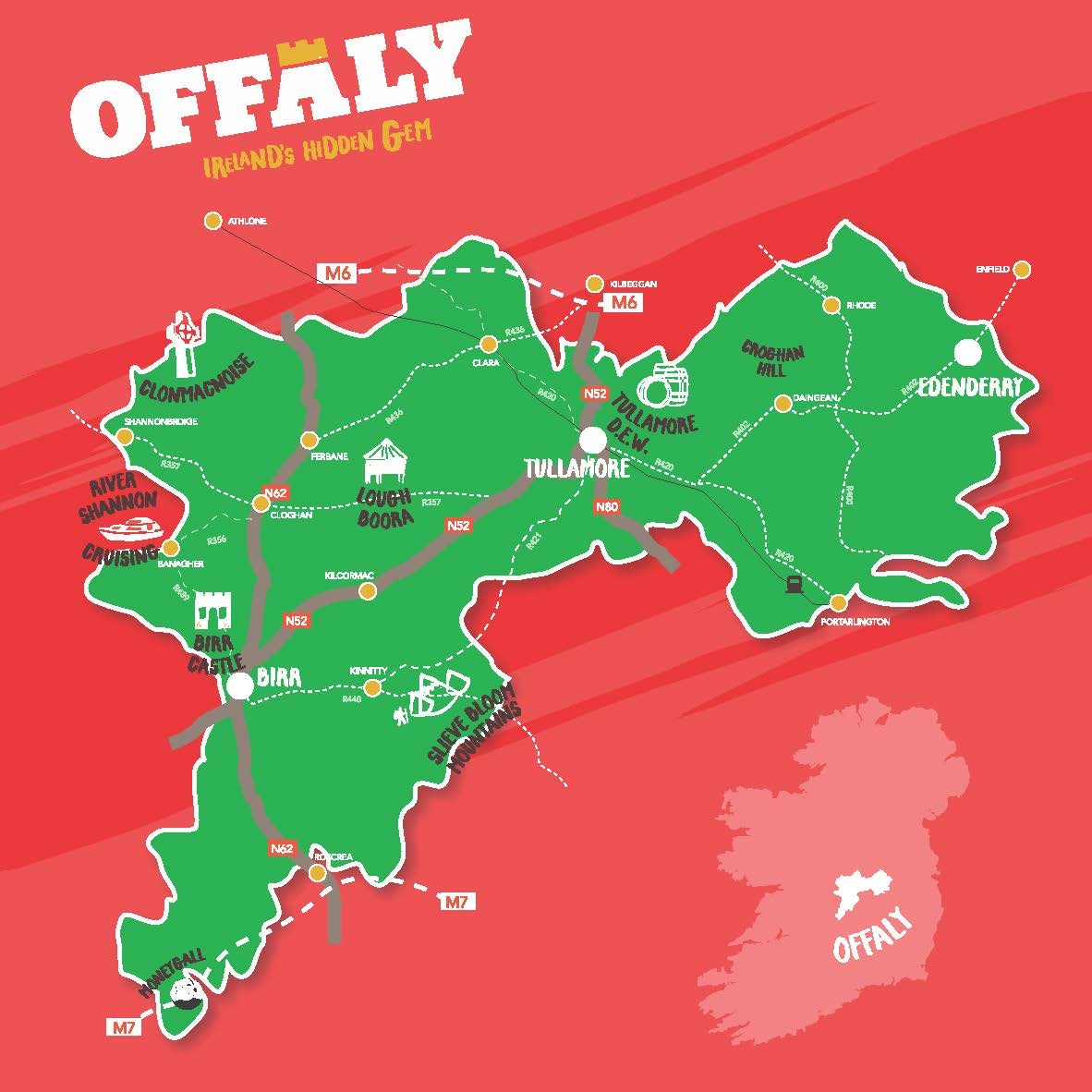 Offaly Map Passport - Local Link Laois Offaly