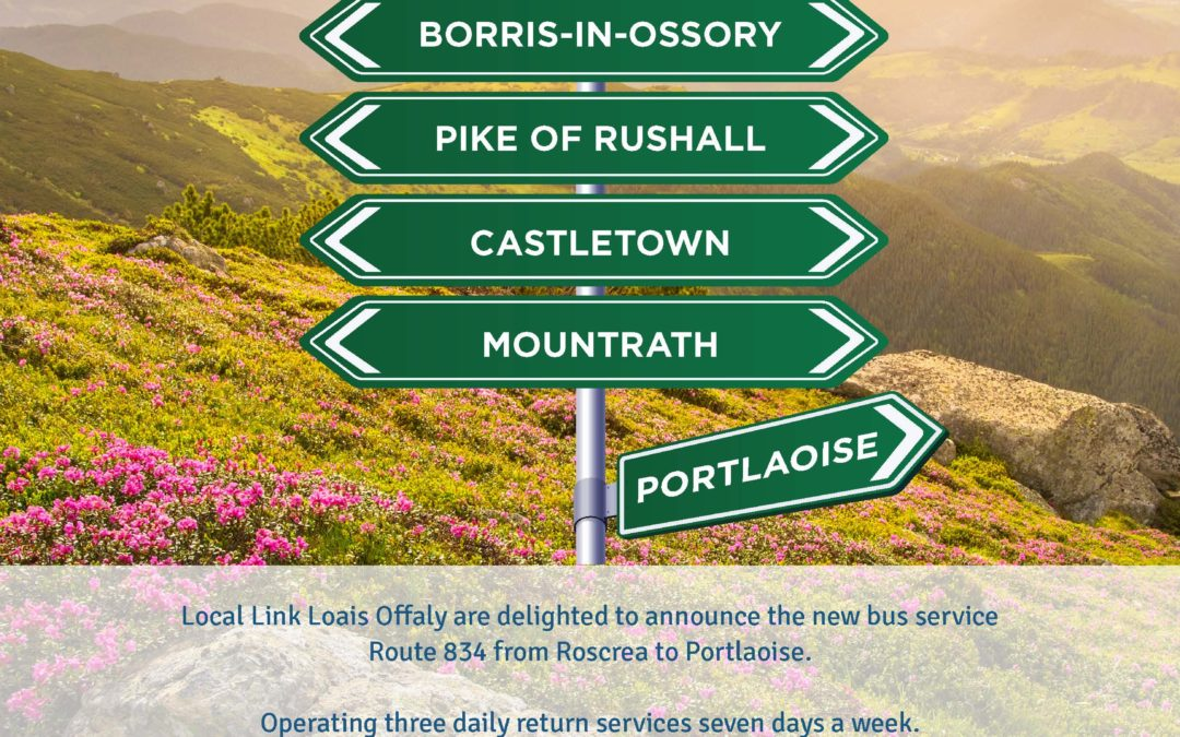 New Service 834 Roscrea to Portlaoise